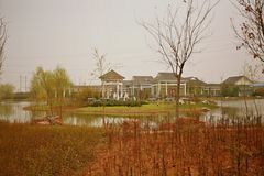Zhengzhou Botanical Garden. The Zhengzhou botanical garden is located in the east of the Zhongyuan West Road and the West Fourth Ring Intersection in the Central Royalty Free Stock Photo