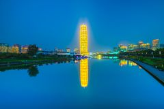 Zhengzhou convention and exhibition c. Zheng dong new district landmark building Royalty Free Stock Photos
