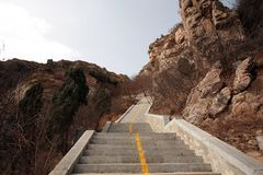 Zhengzhou first ancestor mountain. The ancient name of the mountain, located in the southwest of Xinzheng city 15 kilometers southwest of the village of stock photography