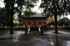 Zhengzhou people& x27;s Park. Is located on the west side of the North 27 road of the downtown area. It became a park in 1951 and officially opened in August 1 stock photos