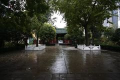 Zhengzhou people& x27;s Park. Is located on the west side of the North 27 road of the downtown area. It became a park in 1951 and officially opened in August 1 stock image
