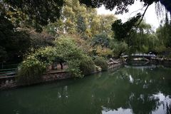 Zhengzhou people& x27;s Park. Is located on the west side of the North 27 road of the downtown area. It became a park in 1951 and officially opened in August 1 stock photo
