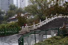 Zhengzhou people's Park. Is located on the west side of the North 27 road of the downtown area. It became a park in 1951 and officially opened in August 1 royalty free stock image