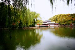 Zhengzhou people's Park. Is located on the west side of the North 27 road of the downtown area. It became a park in 1951 and officially opened in August 1 royalty free stock photo