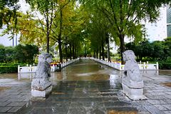 Zhengzhou people's Park. Is located on the west side of the North 27 road of the downtown area. It became a park in 1951 and officially opened in August 1 stock images