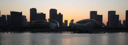 Zhengzhou skyline. A view of Zhengzhou skyline at sunset. Henan. China Stock Photo