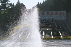 Zhengzhou Yellow River det sceniska området Arkivbild