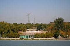 Zhengzhou Yellow River det sceniska området Royaltyfri Bild