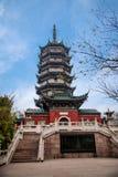 Zhenjiang Jiao Mountain Dinghui Temple milione pagode Immagine Stock Libera da Diritti