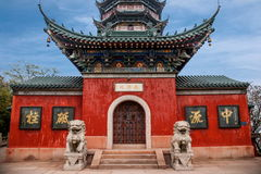Zhenjiang Jiao Mountain Dinghui Temple million pagoda. Joyama million pagoda is located in the middle of the mountain, originally thought to be part of the Stock Photos