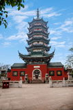 Zhenjiang Jiao Mountain Dinghui Temple million pagoda. Joyama million pagoda is located in the middle of the mountain, originally thought to be part of the Royalty Free Stock Images