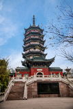 Zhenjiang Jiao Mountain Dinghui Temple Million Pagode Lizenzfreies Stockbild