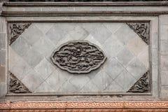 Zhenjiang Jiao Mountain Dinghui Temple volgens de muur Stock Foto's