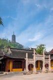 Zhenjiang Jiao Shan Ding Hui Temple tre Zhaifang Royaltyfria Bilder