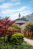 Zhenjiang Jiaoshan Ding Hui Temple Gardens Arkivbilder