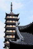 Zhenru Temple Pagoda Royalty Free Stock Images