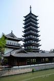 Zhenru Temple Pagoda Royalty Free Stock Photos