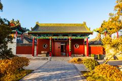 Zhenwu Temple of Taiyuan city. Zhenwu Temple. It was built in Ming Dynasty. In 2009, the temple was rebuilt on its original site. It is located Southwest suburbs Stock Photo