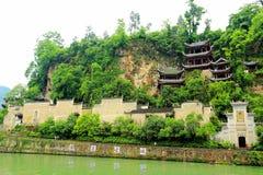 Zhenyuan är den forntida staden en berömd stad med en historia av över 2000 år fotografering för bildbyråer