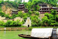 Zhenyuan är den forntida staden en berömd stad med en historia av över 2000 år royaltyfri bild