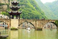 Zhenyuan är den forntida staden en berömd stad med en historia av över 2000 år arkivbilder