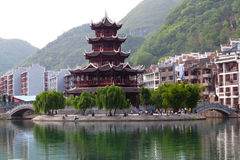 Zhenyuan Ancient Town, China Royalty Free Stock Photo