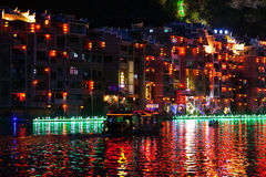 Zhenyuan Ancient Town, China Stock Photo