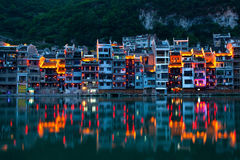 Zhenyuan Ancient Town in China Stock Image