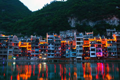 Zhenyuan Ancient Town, China Royalty Free Stock Photography