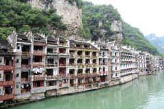 Zhenyuan, an ancient town in Guizhou, China. Stock Photos