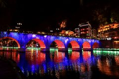 Zhenyuan, an ancient town in Guizhou, China. Royalty Free Stock Images