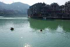 Zhenyuan Ancient Town in Guizhou China Royalty Free Stock Image