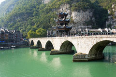 Zhenyuan Ancient Town in Guizhou China Royalty Free Stock Images