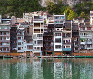 Zhenyuan Ancient Town on Wuyang river in Guizhou Province, China Stock Image