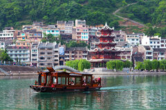 Zhenyuan Ancient Town on Wuyang river in Guizhou Province, China Royalty Free Stock Image