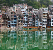Zhenyuan Ancient Town on Wuyang river in Guizhou Province, China Royalty Free Stock Photos
