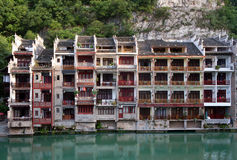 Zhenyuan Ancient Town on Wuyang river in Guizhou Province, China Royalty Free Stock Images