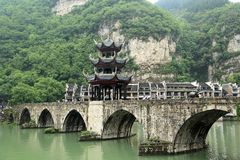 Zhenyuan en forntida town i Guizhou, Kina arkivbild