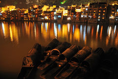 Zhenyuan old town at night Royalty Free Stock Images