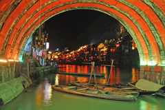 Zhenyuan old town at night Stock Images