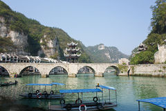 Zhenyuan Oude Stad in Guizhou China Stock Afbeelding