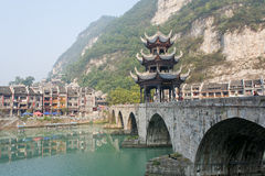 Zhenyuan Oude Stad in Guizhou China Royalty-vrije Stock Afbeelding