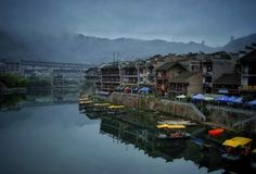 Zhenyuan view , china ancient town Royalty Free Stock Photography