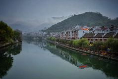 Zhenyuan view , china ancient town 2 Stock Photography