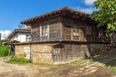 Zheravna,保加利亚建筑储备与19世纪房子的 免版税图库摄影