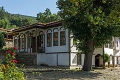 Zheravna,保加利亚建筑储备与19世纪房子的 图库摄影