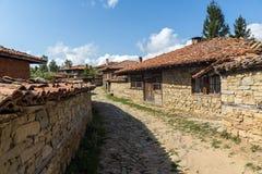 Zheravna,保加利亚建筑储备与19世纪房子的 免版税库存照片
