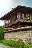 Zheravna, Bulgaria - architectural reserve. Of rustic houses and narrow cobbled streets from the Bulgarian national revival period stock photo
