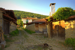 Zheravna village street,Bulgaria. Summer view from Zheravna village street,Bulgaria stock photo