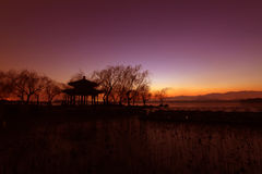 Zhichun pavilion landscape in the evening in the Summer Palace Royalty Free Stock Photo